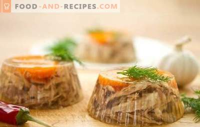 A filler of pork tongue is a table decoration! Recipes of different water from pork tongue: with mushrooms, vegetables, eggs