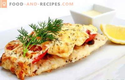 Le filet de poisson cuit au four - une explosion gastronomique! Recettes pour différents filets de poisson cuits au four: avec légumes, champignons, sauces