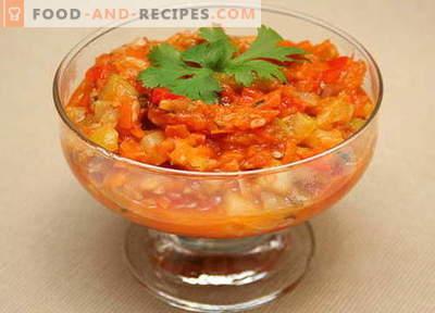 Zucchini Lecho - les meilleures recettes. Comment cuire correctement et savoureux lecho de courgettes.