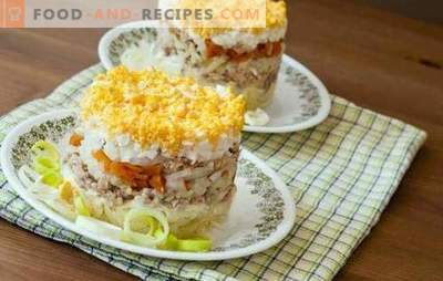 La salade de poisson à l'œuf est un plat de fête juteux. Une sélection de salades de poisson originales avec œuf, légumes, légumineuses et fruits