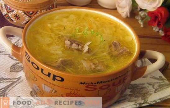 Soupe au chou aigre: préparez la soupe la plus délicieuse! Recettes, secrets et subtilités de la cuisson du chou aigre chou aigre