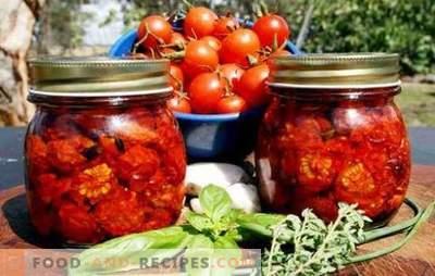 Tomates séchées pour l'hiver - le plus souvent! Des méthodes simples et abordables pour stocker des tomates séchées pour l'hiver