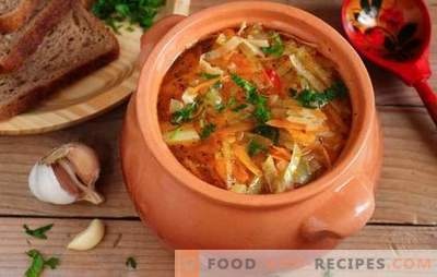 Chou en pot: une rétrospective, base de la cuisine russe moderne. Recettes chou à l'étouffé - simple et de bon goût!
