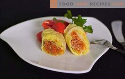 Le chou farci aux légumes est une version maigre d'un plat préféré. Recettes et secrets de cuisson des rouleaux de chou de légumes à la citrouille, navet, champignons, grillés