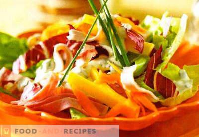 Salades à la crème sure - une sélection des meilleures recettes. Comment bien et savoureux salades à la crème sure.
