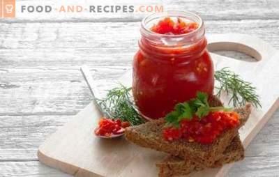 Adjika épicé avec des pommes - une collation délicieuse pour tous les plats. Recettes et secrets de délicieux adjika épicé aux pommes