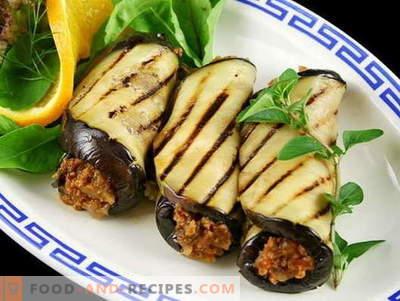 Aubergines aux noix - les meilleures recettes. Comment bien et savoureux faire cuire l'aubergine avec des noix.