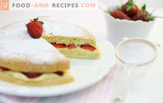 Gâteau éponge aux fruits - facile, doux, doux! Recettes pour les biscuits aux fruits les plus délicieux: vanille, chocolat, eau bouillante