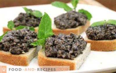 Caviar de pleurotes - comme une grand-mère dans le garde-manger. Cuire à tout moment de l'année le caviar maison de pleurotes selon des recettes sûres