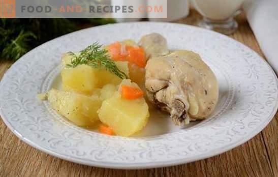Comment cuire des pommes de terre au poulet dans une mijoteuse: un bon dîner en une demi-heure! Photo-recette pas à pas de ragoût de poulet avec pommes de terre dans une mijoteuse