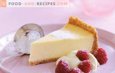 Cheesecake au Mascarpone - un gâteau au fromage crémeux. Recettes à la vanille, fromage cottage, gâteau au fromage aux fraises avec mascarpone