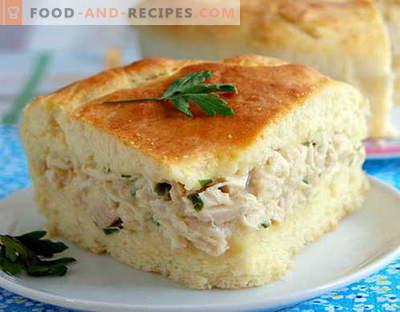 Tarte au poulet - les meilleures recettes. Comment bien et savoureux faire cuire une tourte au poulet.