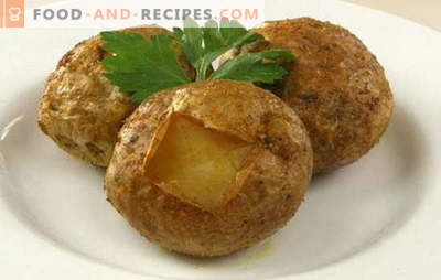 Comment cuire des pommes de terre au four - les meilleures recettes avec croûte, fromage, bacon, ail. Combien de pommes de terre au four?