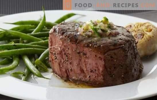 Entrecote au four - cuisine française classique! Entrecôte de cuisson au four de boeuf, agneau, veau et porc