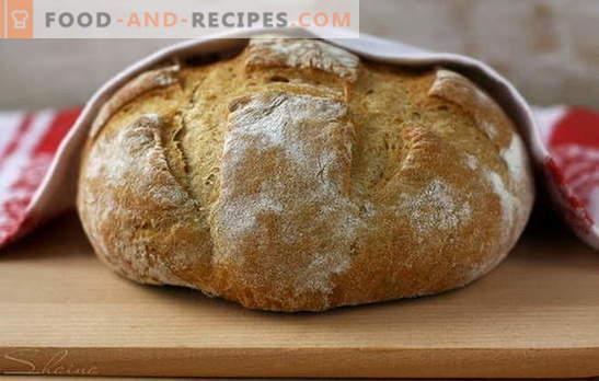 La fabrication artisanale est préférable à l'achat: du pain de seigle! Sur levain et kéfir, avec et sans levure - recettes de pain de seigle maison