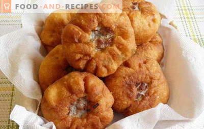 Comment faire du belyashi à la maison avec de la viande et d'autres fourrages. Comment faire belyashi à la maison, alors ils se sont avérés juteux et savoureux