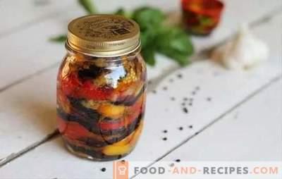 Snack du tsar pour l'hiver - original et beau! Variantes de préparations du goûter royal pour l'hiver avec aubergines, tomates, chou et haricots