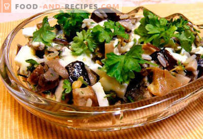 Salades aux champignons marinés - cinq meilleures recettes. Comment faire cuire des salades avec des champignons marinés correctement et savoureux.