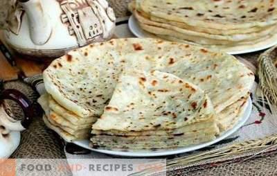 Khychyny du Caucase: recettes étape par étape pour les tortillas fourrées. Comment faire cuire le fromage, la viande, la pomme de terre khichina (étape par étape)