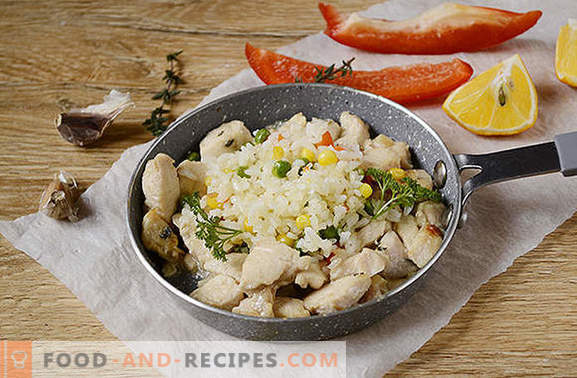 Chicken fillet with thyme: be surprised at the new taste of the usual product! Author's photo-recipe of chicken fillet with thyme, garlic and lemon in a pan