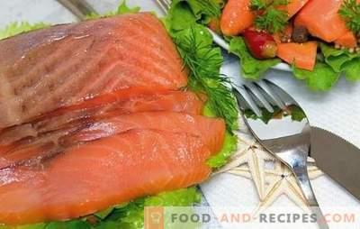 Saumon Saumon à la maison: des mets abordables! Recettes saumon rose salé et les secrets de le saler à la maison