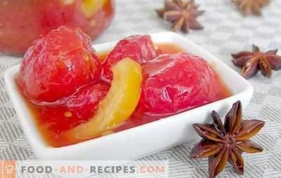 Confiture de tomates vertes et rouges: un goût inattendu! Vous ne connaissez pas de telles recettes pour la confiture de tomates