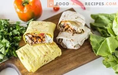 Shawarma à la viande hachée: recettes étape par étape, secrets de cuisine. Comment faire cuire un shawarma délicieux avec de la viande hachée