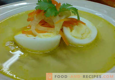 Bouillon de poulet - les meilleures recettes. Comment cuire correctement et savoureux bouillon de poulet.