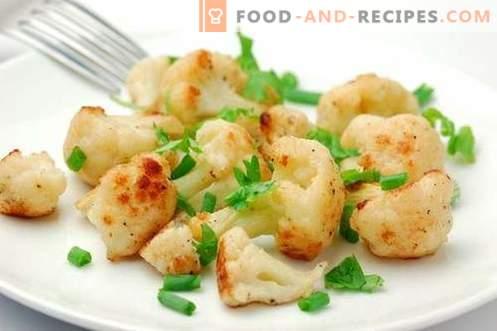 Chou-fleur au four - les meilleures recettes. Comment cuire correctement et savoureux dans le chou-fleur du four.
