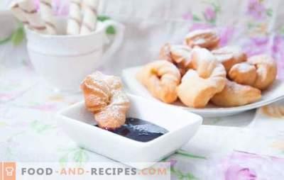 Verguns sur le kéfir - broussailles dodues! Recettes vergounov luxuriante sur le kéfir avec soda, vodka, levure, miel