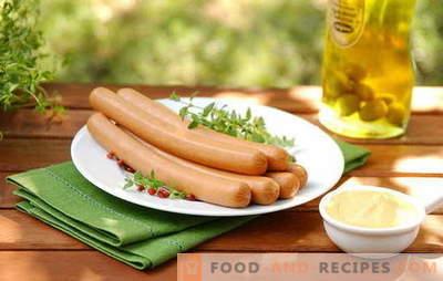 Comment faire cuire des saucisses de différentes manières - beaucoup d'options! Comment faire cuire des saucisses pour un couple, au micro-ondes et à la mijoteuse