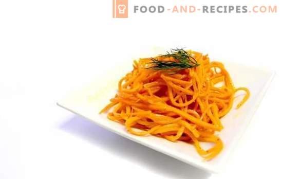 Les vraies carottes coréennes à la maison - collation salée. Recettes vraies carottes coréennes avec additifs
