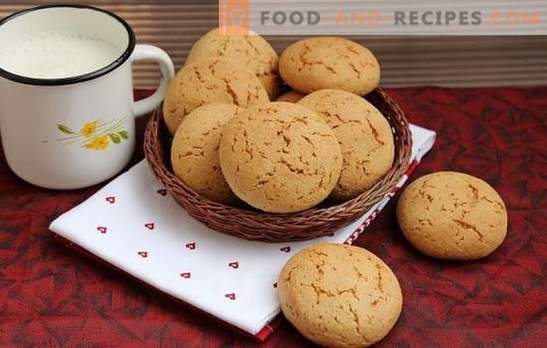 Oatmeal cookies without flakes - the most delicious recipes. Useful and tasty pastries: oatmeal cookies without cereal