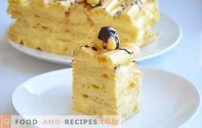 Custard Cake - Recettes pas à pas pour un dessert délicieux. Cuisson de gâteaux au chocolat avec crème anglaise (étape par étape)