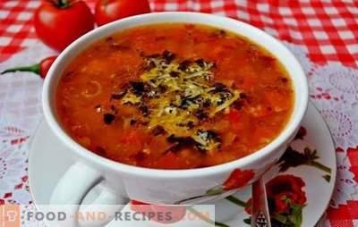 Soupe aux tomates - un classique. Recettes du monde pour cuisiner des soupes à la tomate: savoureuses, saines, exceptionnellement