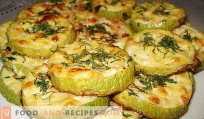 Courgettes cuites au four - les meilleures recettes. Comment cuire correctement et savoureux courgettes cuites au four.