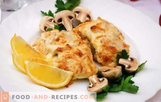 La morue au fromage est un poisson tendre sous une croûte appétissante. Recettes simples et originales de morue au fromage