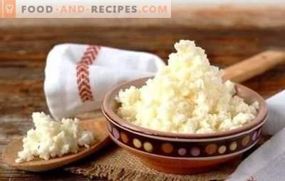 Caillé de lait fait maison: des recettes étape par étape. Technologie d'obtention de grains et de recettes étape par étape pour le fromage cottage au lait