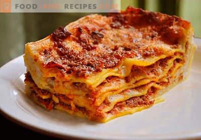 Lasagne dans la mijoteuse - les bonnes recettes. Comment cuire rapidement et savourer des lasagnes dans une mijoteuse.