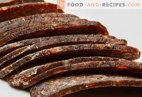 Home basturma - les meilleures recettes. Comment cuire correctement et savourer basturma de boeuf ou de poulet à la maison.
