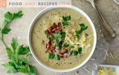 Soupe de brocoli et de chou-fleur - l'original utile en premier! Recettes originales et traditionnelles pour les soupes au brocoli et au chou-fleur