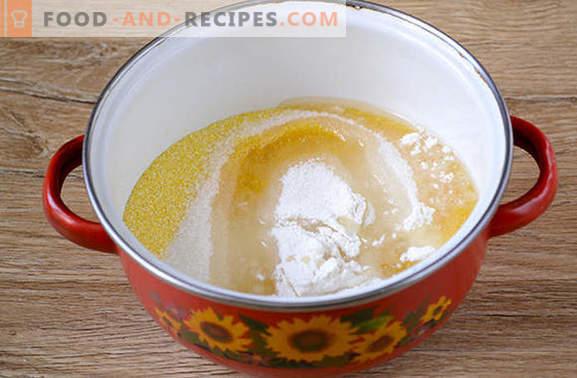 Muffins à la semoule de maïs: élégant dessert ensoleillé! Recette pas à pas de l'auteur pour des muffins au maïs rapides (avec photo)