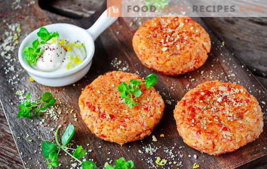 Miracle de l'art culinaire à la maison - bâtonnets de bâtonnets de crabe. Côtelettes de crabe à faible coût: recettes étonnantes