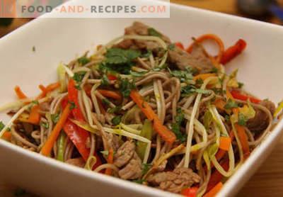 Nouilles de sarrasin - les meilleures recettes. Comment cuire correctement et savourer des nouilles au sarrasin à la maison.