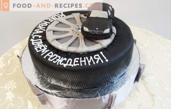 Un gâteau d'anniversaire pour un homme est le plus beau des cadeaux! Une sélection de différents gâteaux pour les hommes pour l'anniversaire