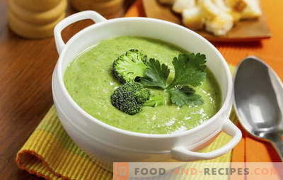 Velouté au brocoli: recettes de régime et nutrition de base. Variété de recettes pour la crème - soupe de brocoli simple à complexe