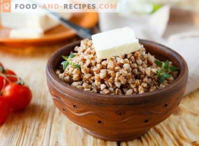Bouillie de sarrasin - les meilleures recettes. Comment faire cuire la bouillie de sarrasin.