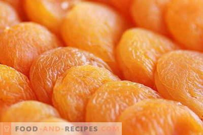 Abricots secs - description, propriétés, utilisation en cuisine. Recettes aux abricots secs.
