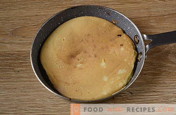 Crêpes à la semoule de maïs: un dessert luxuriant sur kéfir. Comment faire cuire des crêpes de maïs: photo-recette étape par étape