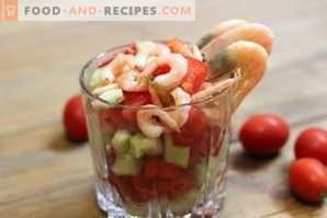 Salades aux crevettes
